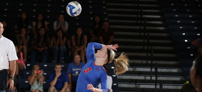 Rachel Breault of DePaul volleyball. (Photo courtesy of DePaul Athletics)
