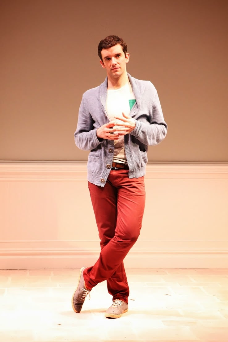 """Michael Urie stars as Alex Moore and Barbra Streisand in the one-man comedy """"Buyer and Cellar."""" Photo courtesy of SANDRA COUDERT."""