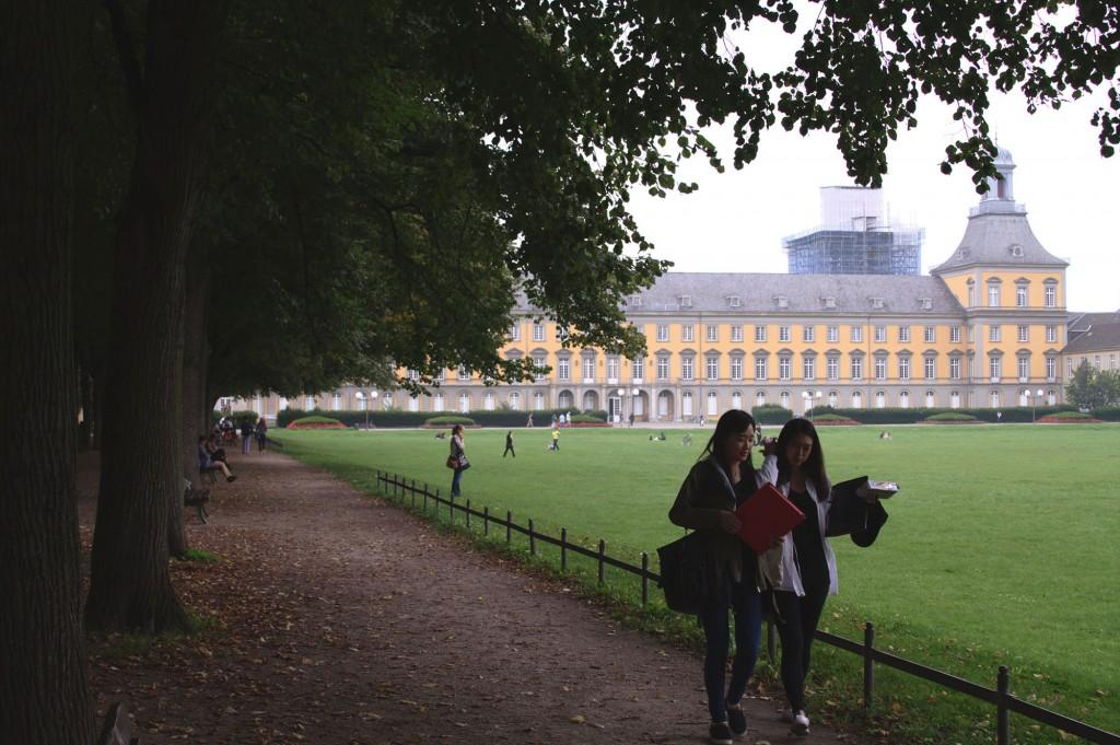 The University of Bonn draws more than 4,000 international students a year to its campus. They are split between a number of different programs, and of the three that I'm paired with, there are 26 from Taiwan, 17 from America, and others from Australia, Spain, Japan, Korea, China, Bulgaria, Italy, Poland and France. (Megan Deppen / The DePaulia)
