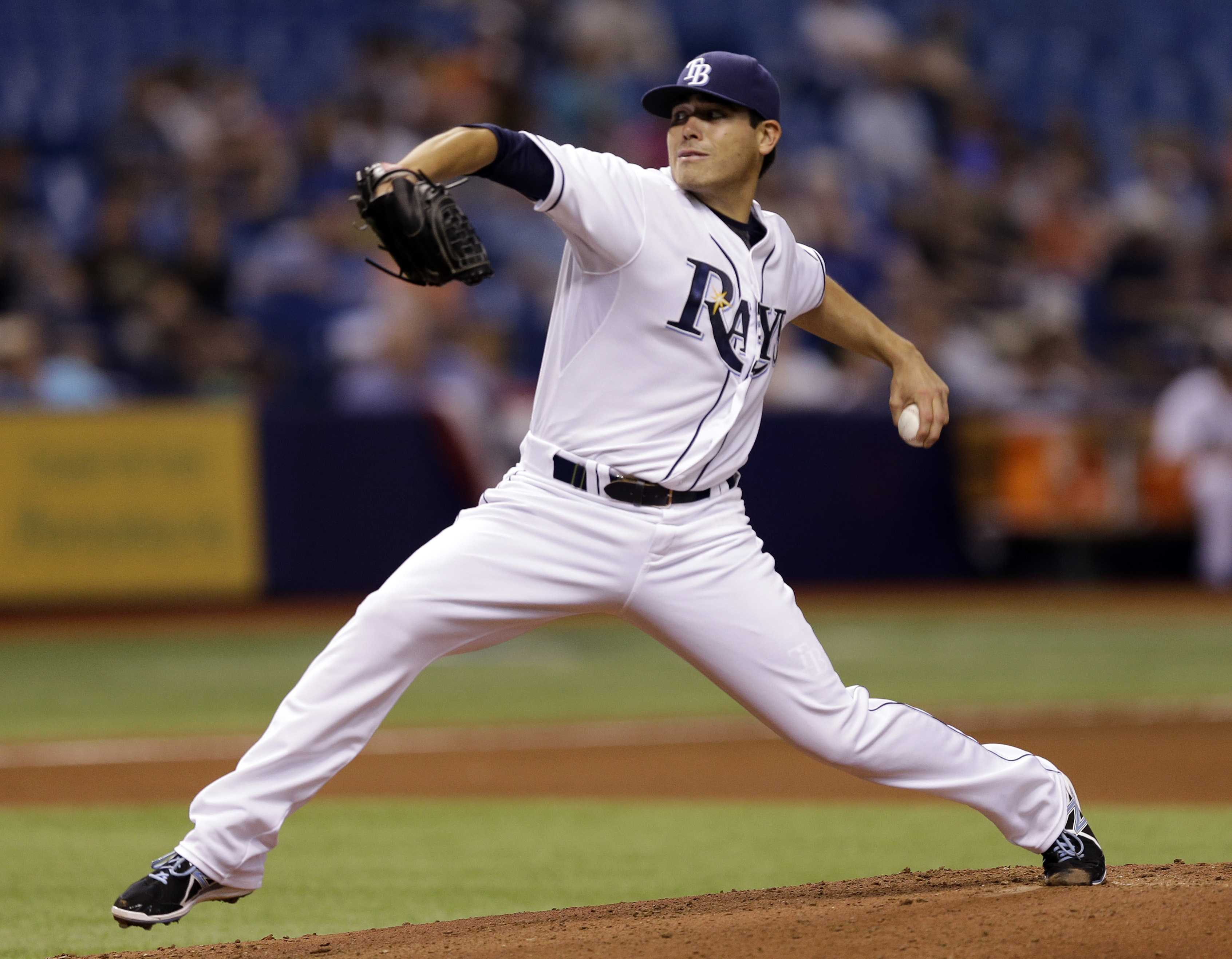 Tampa Bay Rays pitcher Matt Moore is one of the many pitchers this season that needs Tommy John surgery. Photo courtesy of AP.