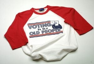 Urban Outfitters is known for selling controversial clothing, including the Voting is for Old People shirt and Jesus socks (below). Susan Chalifoux | MCT Campus
