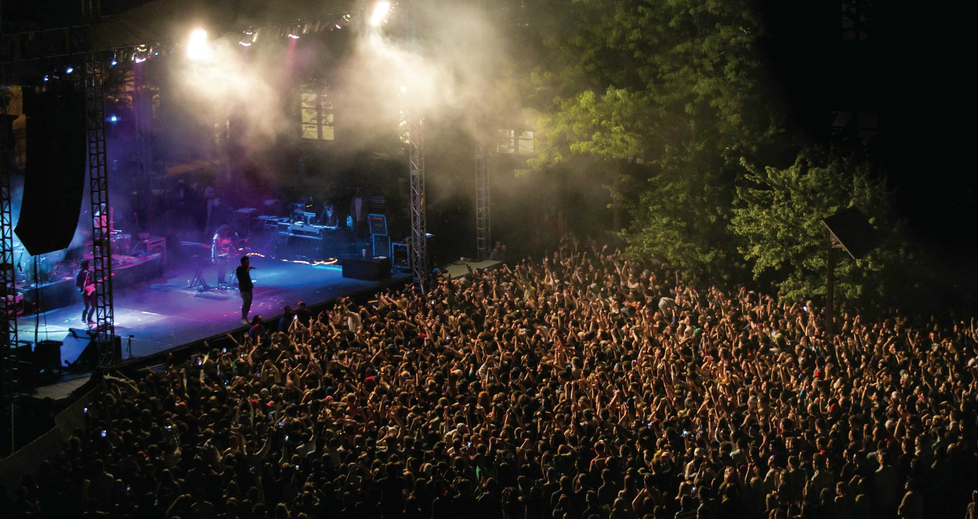 Students pack the Quad Friday, May 23 for Childish Gambino at FEST. (Photo courtesy of DAB)