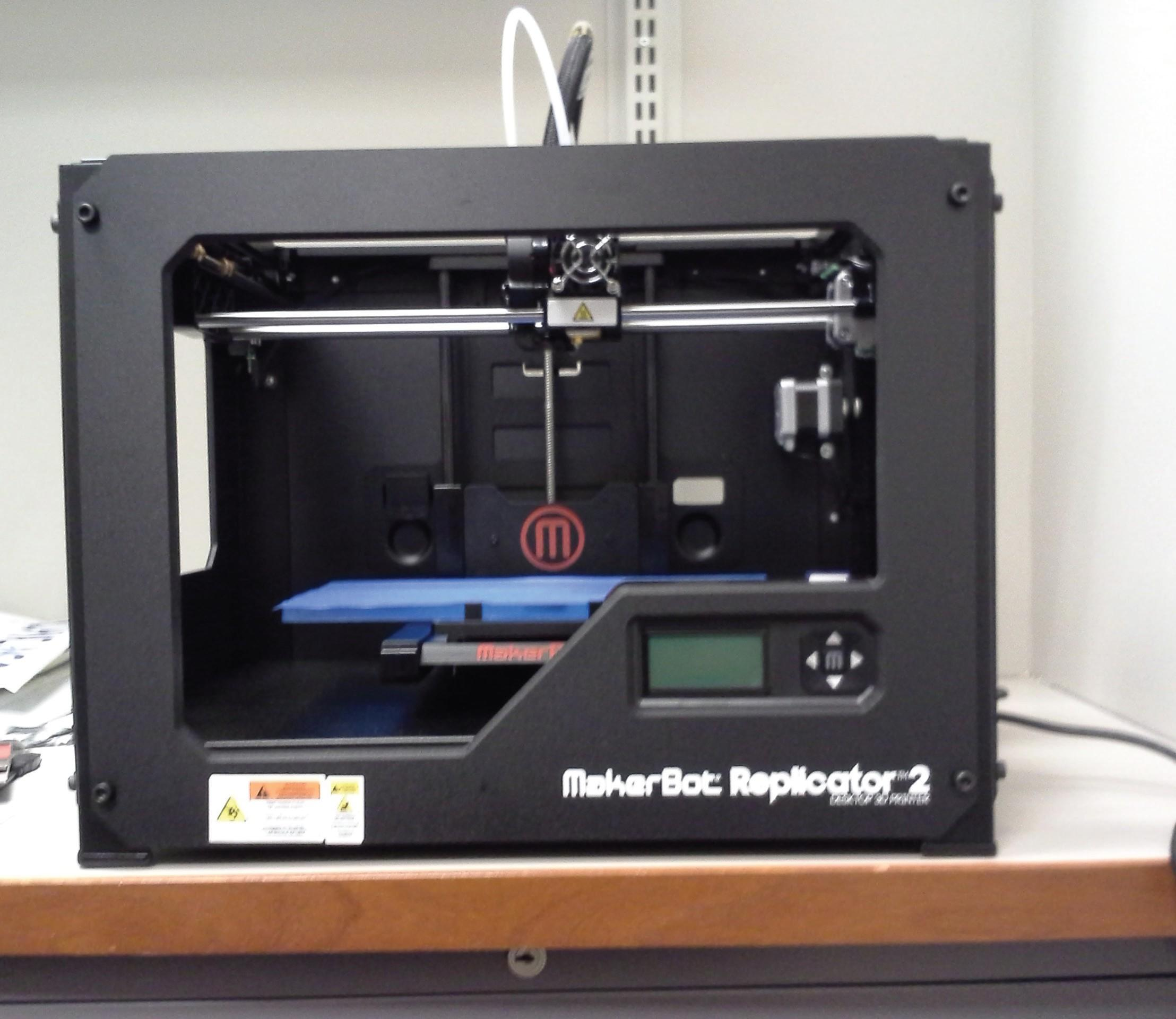 The Center for Creativity and Innovation at DePaul's business school purchased one of the !rst consumer models of a 3D printer currently available on the market. The printer costs $1200. (Photo courtesy of Lisa Gundry)