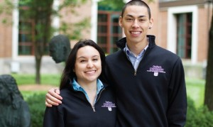 """SGA President Matthew von Nida and Vice President Cristina Vera (pictured above) discussed their goals and iniatitives for the year while emphasizing the importance of student voice. """"We want to be that student voice in any capacity that we can be,"""" von Nida said. (Grant Myatt / The DePaulia)"""