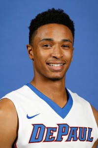 Sophomore guard Darrick Wood. (Photo courtesy of DePaul Athletics)