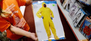 Ebola costumes are in stock in many costume stores around the country for this Halloween season. (Olivier Douliery | Tribune News Service)