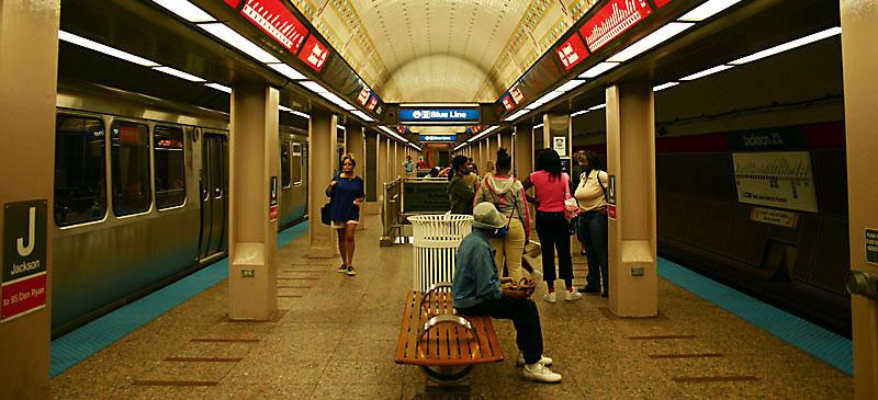 The Jackson Red Line 'L' stop (pictured above) is a key arrival and departure point for DePaul students and faculty at the university's Loop Campus. According to an NBC 5 investigation earlier this year, the station recorded the most thefts of any platform in the system. (Photo courtesy of Wikimedia Commons)
