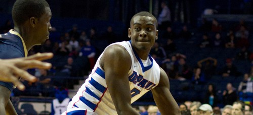 Former DePaul guard Edwind McGhee remains with the team as a graduate assistant. (DePaulia File)