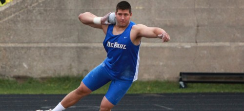 Senior shot-putter Matt Babicz has already had a storied career at DePaul, but looks to add to his accomplishments in 2015. (Photo courtesy of DePaul Athletics)