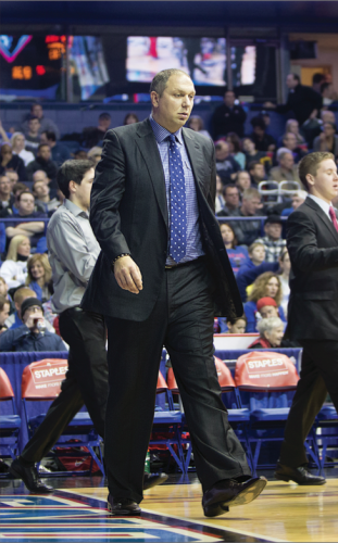 DePaul's Director of Basketball Operations Ivan Vujic has had two stints with DePaul, from 2006 to 2008 and was rehired in 2013. Vujic is responsible for coordinating all the team's travel plans including scheduling the flights and hotel. (Josh Leff / The DePaulia)