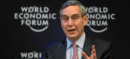 Richard Edelman, who will speak at the College of Communication commencement ceremony, speaks at the 2011 World Economic Forum Annual Meeting in Switzerland. (Wikimedia Commons)