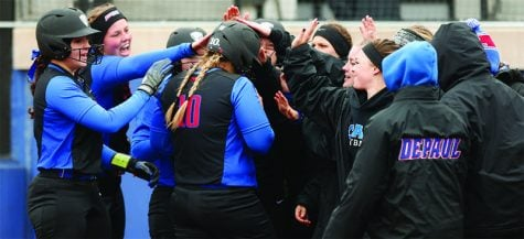 DePaul softball begins conference play with two sweeps