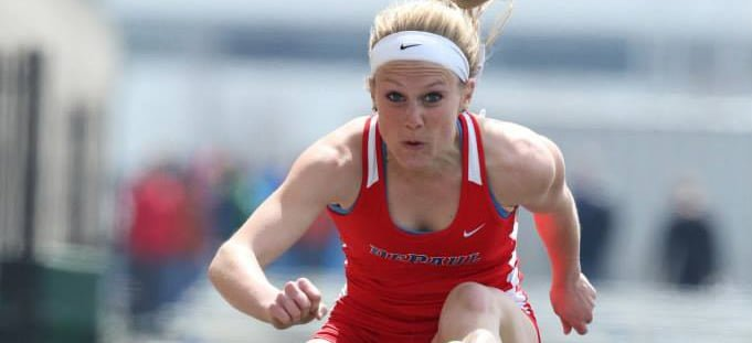 Senior track athlete Ashley Holden finished her last race as a DePaul student at the Big East Championships, now she reflects on her career.  (Photo courtesy of DePaul Athletics)