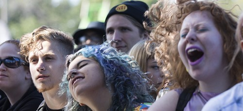 Riot Fest attendees enjoy The Dandy Warhols during the 2014 festival. Many Humboldt Park residents and Ald. Roberto Maldonado want to ban the festival from returning. (Kirsten Onsgard / The DePaulia)