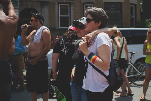 Supporters of same-sex marriage and LGBTQ advocates celebrate at the Chicago Pride Parade June 28. Some conservative religious leaders now fear losing their tax-exempt status after the Supreme Court's decision to legalize same-sex marraige. (Olivia Jepson / The DePaulia)