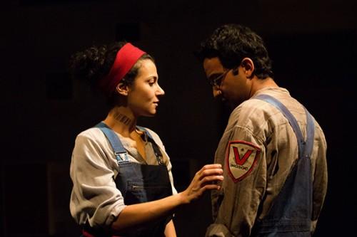 "Atra Asdou and Adam Poss in Steppenwolf Theatre's ""1984."" (Photo courtesy of STEPPENWOLF THEATRE)"
