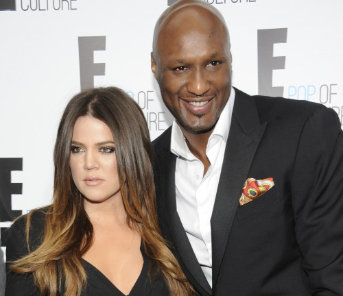 "FILE - In this April 30, 2012, file photo, Khloe Kardashian Odom and Lamar Odom from the show ""Keeping Up With The Kardashians"" attend an E! Network upfront event at Gotham Hall in New York. A family representative says Lamar Odom has left a Las Vegas hospital and is now in the Los Angeles area to continue his recovery a week after being found unconscious at a Nevada brothel. Alvina Alston, publicist for Odom's aunt JaNean Mercer, said Tuesday, oct. 20, 2015, that the former NBA star was transported by helicopter from Sunrise Hospital and Medical Center in Las Vegas around 5 p.m. Monday. (AP Photo/Evan Agostini, File)"
