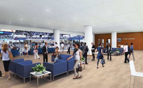 The club lounge of the new arena. (Photo courtesy of DEPAUL ATHLETICS)