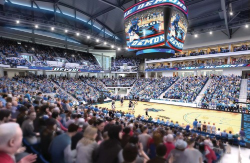 A new 3-D model of the DePaul arena was unveiled today. The building is set to open in fall 2017. (Photo courtesy of DEPAUL ATHLETICS)