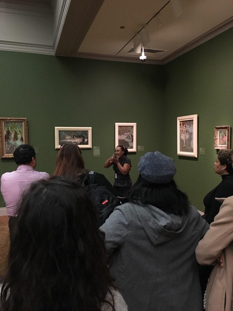 About 40 people attended a sign language tour at the Art Institute of Chicago. (Photo courtesy of Justin Haugens)
