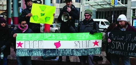 Syrian students rally for refugee acceptance