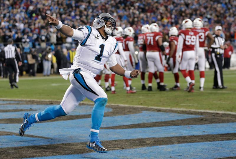 Quarterback Cam Newton will lead the Carolina Panthers to Super Bowl 50 on Feb. 7. (CHUCK BURTON / AP)
