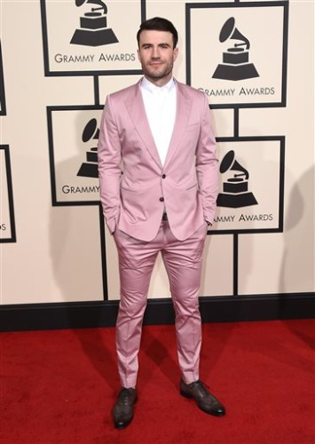 Sam Hunt arrives at the 58th annual Grammy Awards at the Staples Center on Monday, Feb. 15, 2016, in Los Angeles. (Photo by Jordan Strauss/Invision/AP)