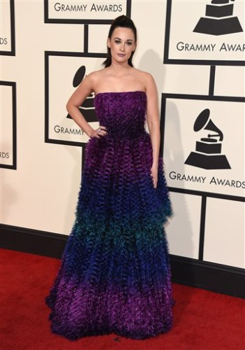 Kacey Musgraves arrives at the 58th annual Grammy Awards at the Staples Center on Monday, Feb. 15, 2016, in Los Angeles. (Photo by Jordan Strauss/Invision/AP)