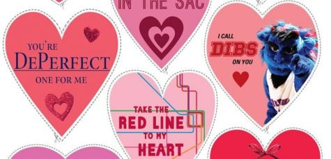 DePaul Valentines cut-outs