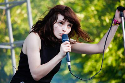 CHVRCHES performs at Pitchfork Music Festival 2015. (Kirsten Onsgard / The DePaulia)