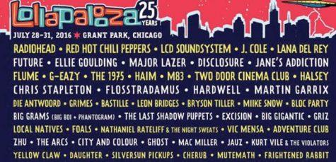 Radiohead, LCD Soundsystem to headline Lollapalooza