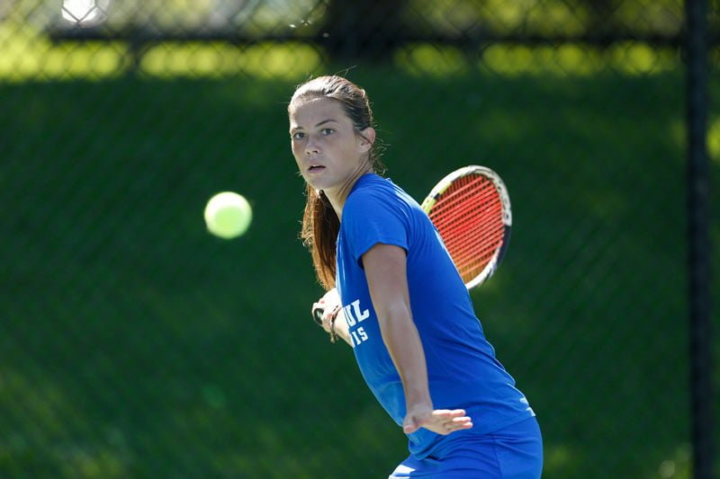 Senior Rebecca Mitrea will play in the doubles portion of the NCAA championship. (Photo courtesy of DEPAUL ATHLETICS)