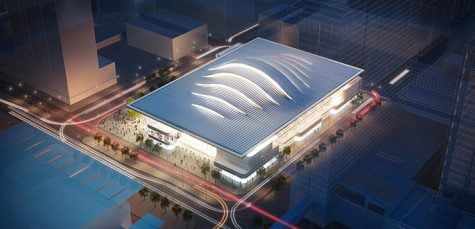 Who DePaul's first opponent at its new arena should be