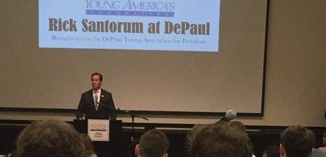 Santorum highlights traditional conservative values during DePaul talk