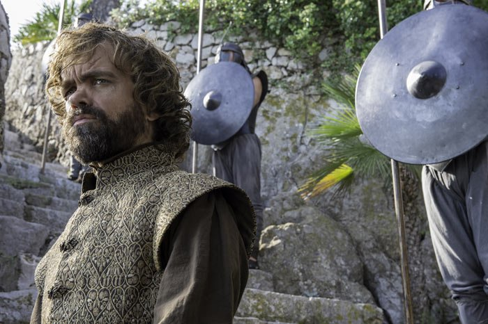 Tyrion goes on a diplomatic mission to try to convince slaveholders to abolish the practice. (Photo courtesy of HBO)