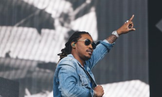 Future's performance at Lollapalooza on Friday drew a large crowd and featured a special guest performer. (Josh Leff | The DePaulia)