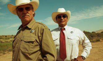 "Jeff Bridges, left, plays Marcus Hamilton and Gil Birmingham plays Alberto Parker in the film ""Hell or High Water."" (CBS Films)"