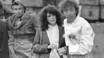 "In this Aug. 27, 1981 file photo, Gilda Radner, center, and Gene Wilder, right, perform in a scene from the film ""Hanky Panky,"" directed by Sidney Poitier in Boston. Wilder's nephew said Monday, Aug. 29, 2016, that the actor and writer died late Sunday at his home in Stamford, Conn., from complications from Alzheimer's disease. He was 83. (Bill Polo 