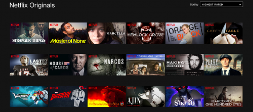 Netflix differentiates itself in the competitive media market by producing original shows. (Maddy Crozier/The DePaulia)