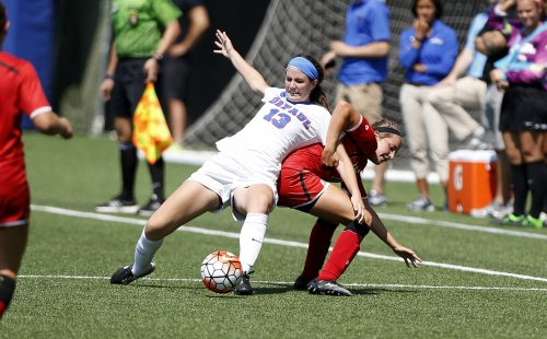 Senior defender Taylor Schissler has three goals and three assists in the season. (Photo courtesy of DePaul Athletics)