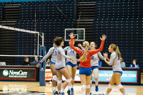 DePaul volleyball is off to a 5-4 start after going 2-1 at the DePaul Invitational. (Garrett Duncan/The DePaulia)