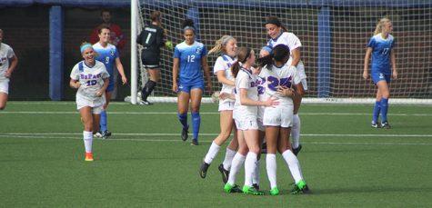Women's soccer shares Big East title