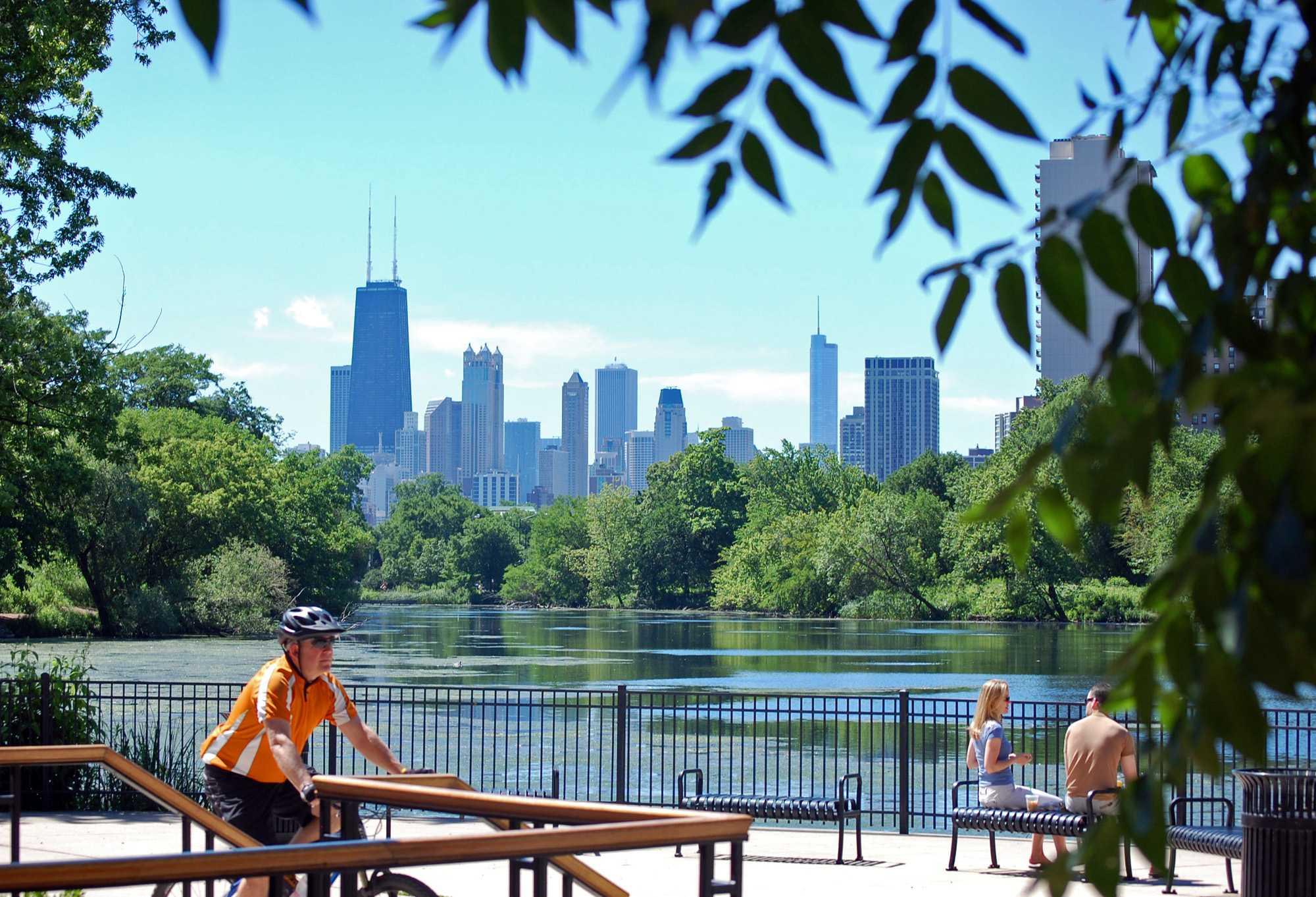 The skyline of Chicago is seen from the North Pond restaurant in Lincoln Park. The restaurant, as well as others in the city, contributed to Time Out scoring Chicago as the best city in the world. (Curt Brown | MCT)