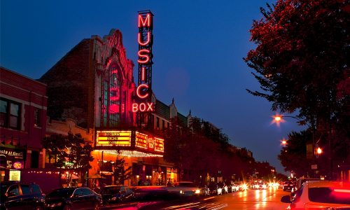 Music Box Theatre will show popular Christmas movies, as well as singalong versions, to help Chicagoans get in the holiday mood. (Courtesy of Music Box Theatre)