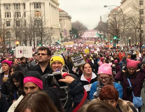"""D.C. women's marchers to Trump: """"Don't get too comfortable"""""""