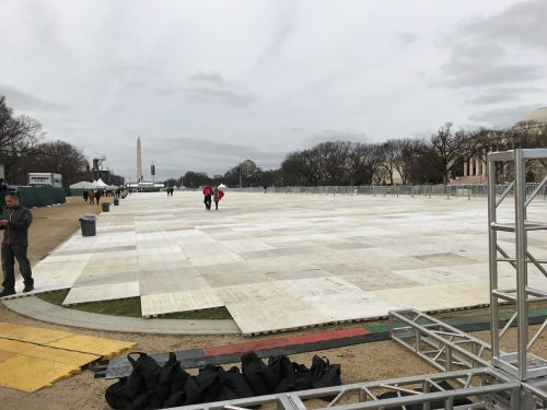 The National Mall is ready for the thousands of spectators expected for Friday's inauguration. (Brenden Moore/The DePaulia)