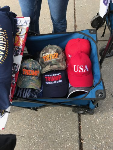 Trump merchandisers ready to cash in on inauguration. (Brenden Moore/The DePaulia)