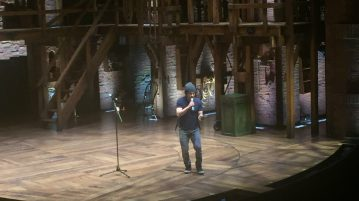 """Hamilton"" actor and lead Miguel Cervantes hosted the student performances. Over 12 students performed on the ""Hamilton"" stage."