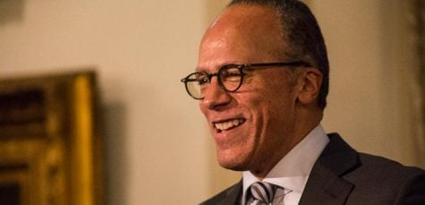 Journalists Lester Holt, Ben Welsh honored by university