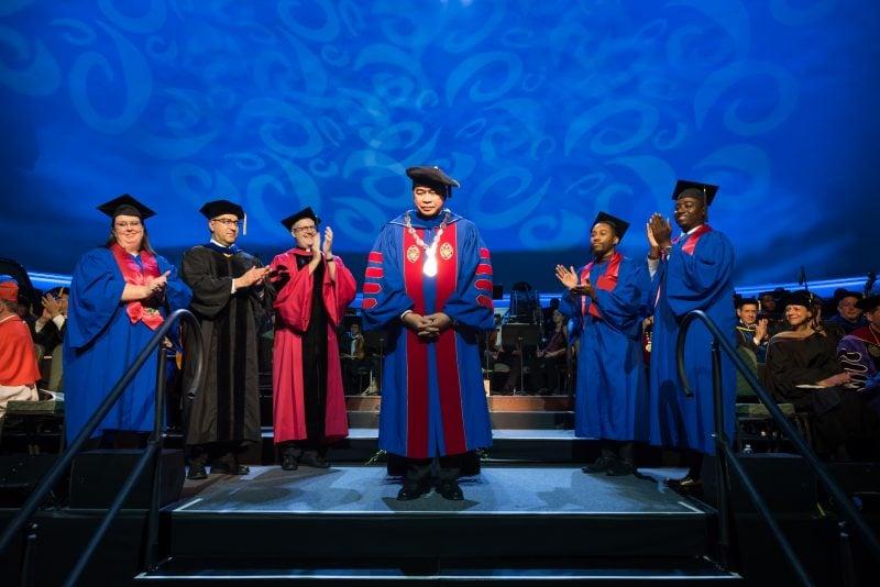 Photo highlights: University celebrates President Esteban's inauguration